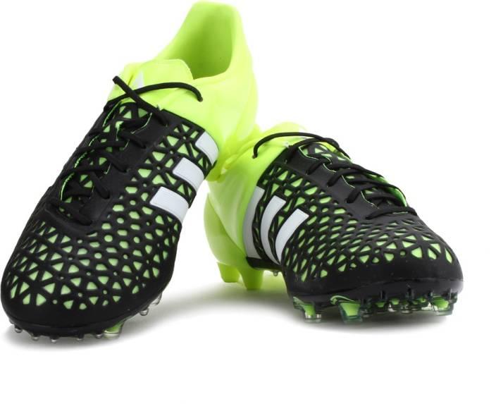 pretty nice 1abf7 b5cb0 ADIDAS ACE 15.1 FGAG Football Studs For Men (Black, Green)