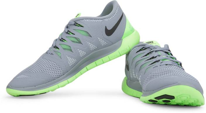 the latest 7861e fa1a8 Nike Free 5.0 Running Shoes For Men (Grey, Green)