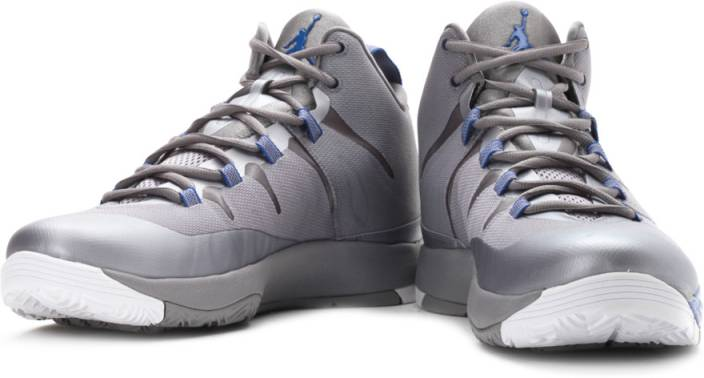 502d8f31ddf1 ... Nike Jordan Super Fly2 Basketball Shoes Grey Blue Color Nike Men White  ...