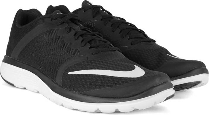 huge selection of 442a6 ea788 Nike FS LITE RUN 3 Running Shoes For Men (Black, White)
