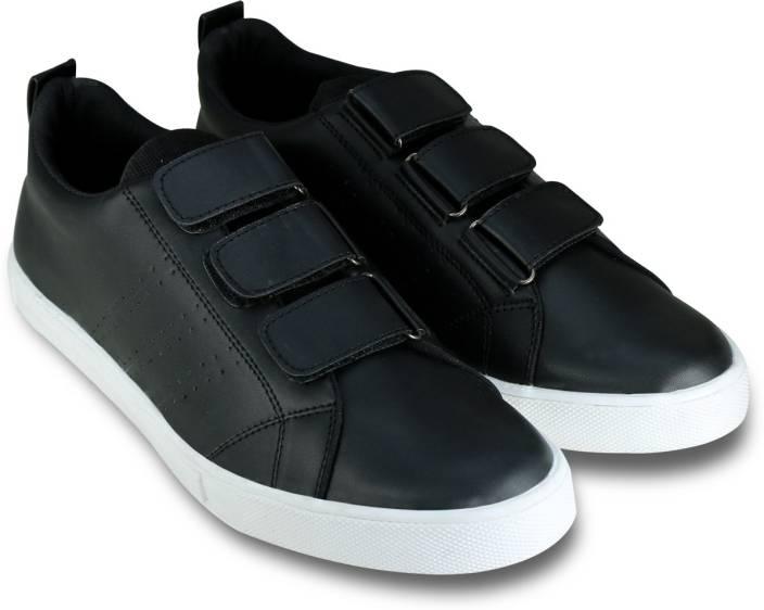 sports shoes 12596 864df Beonza Velcro Slip On Sneakers For Men (Black)