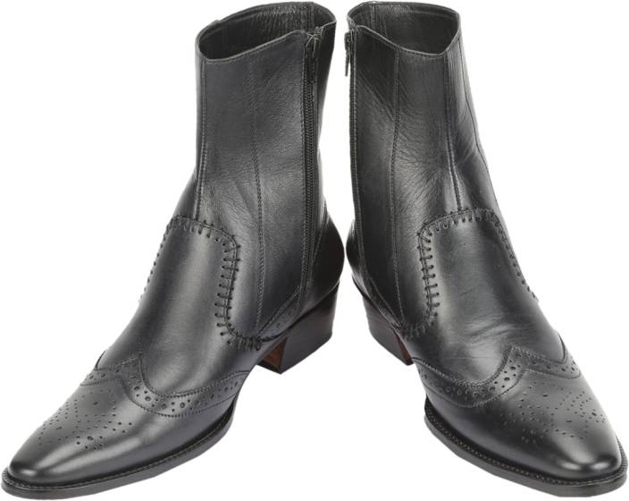 Shoe Bazar Black Leather Boots For Men - Buy Black Color Shoe Bazar ... 658851988312
