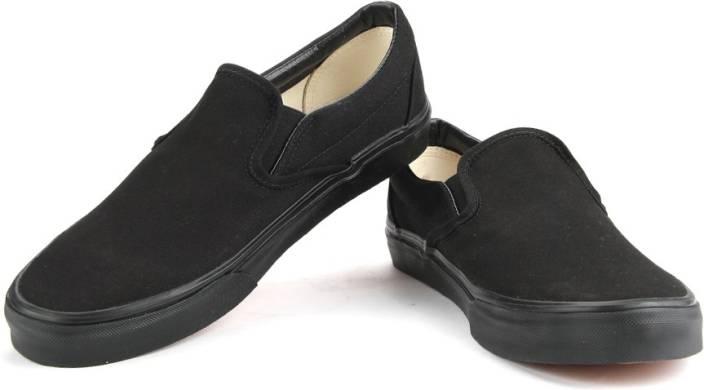 vans shoes black slip on. vans men loafers shoes black slip on