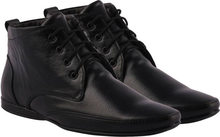 Kraasa High Ankle Lace Up Shoes For Men