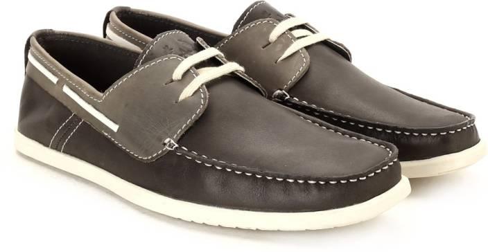 Arrow Men Genuine Leather Boat Shoes For Men
