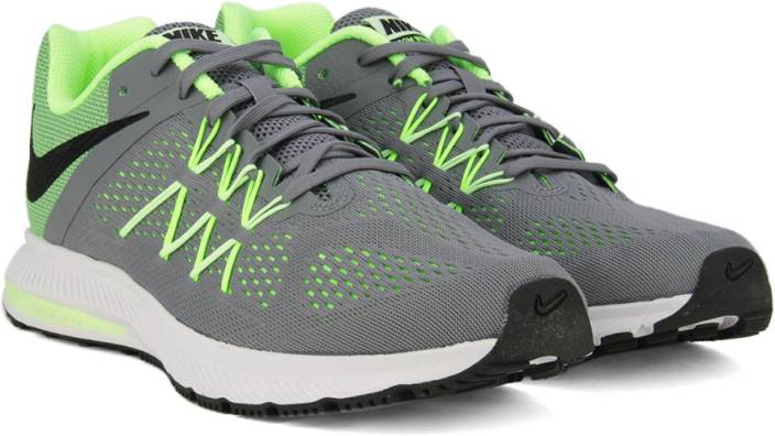 premium selection 0f814 5813a Nike ZOOM WINFLO 3 Running Shoes For Men (Green, Grey)