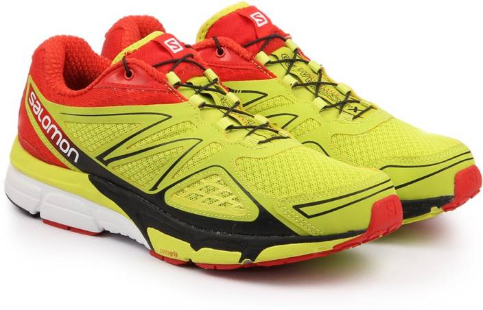 Salomon X-SCREAM 3D GECKO GREE/RD Running Shoes For Men