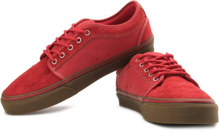 9a186f561efd11 Vans Chukka Low Canvas Sneakers For Men - Buy Red, Gum Color Vans ...