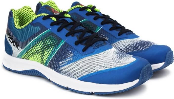 63aaa3d5fcb6 REEBOK QUICK WIN Running Shoes For Men - Buy WHITE SPORT NAVY YELLOW ...