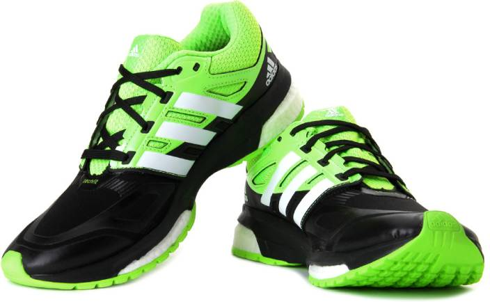 ADIDAS Response Boost Techfit M Running Shoes For Men - Buy Black ... 007aad363