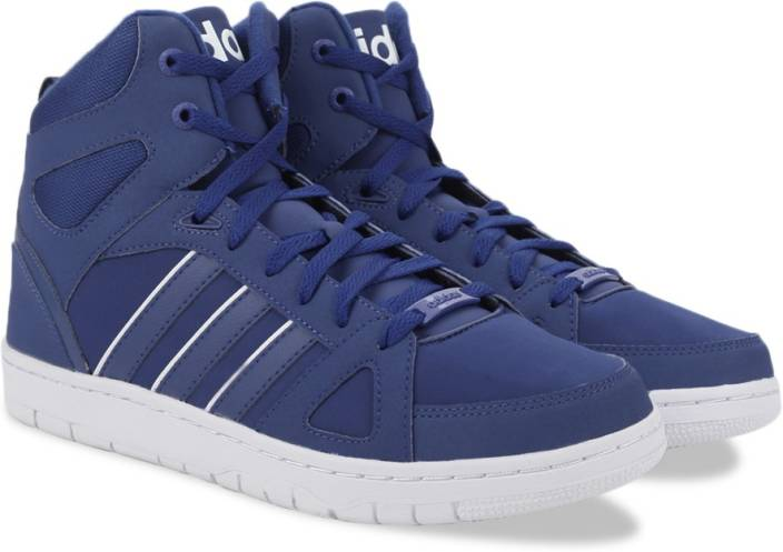 best cheap 0112c e86c4 ADIDAS NEO HOOPS TEAM MID Sneakers For Men (Blue, White)