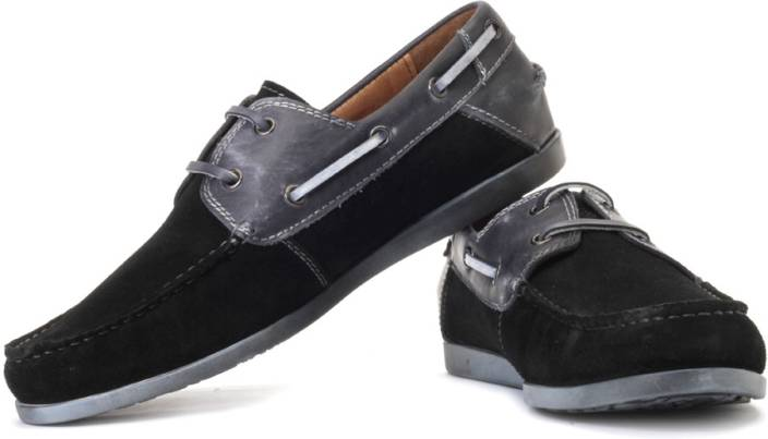 050cde3938b Steve Madden Qnsboro Boat Shoes For Men - Buy Black Color Steve ...