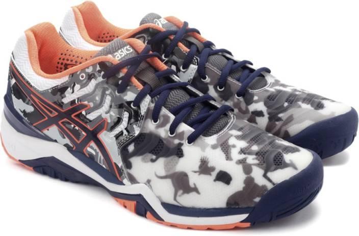 6a690cd9aa32 Asics GEL-RESOLUTION 7 L.E.MELBOURNE Sports Shoe For Men - Buy WHITE ...