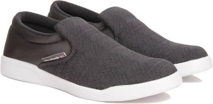 REEBOK COURT SLIP ON Sneakers For Men - Buy GRAVEL FLAT GREY WHT ... b80f87a04
