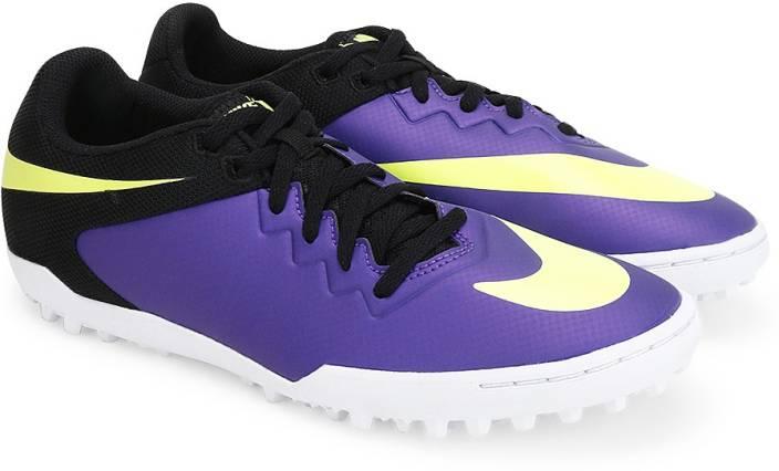 9c516e35405e Nike HYPERVENOMX PRO TF Men Football Shoes For Men (Black, Green, Purple)