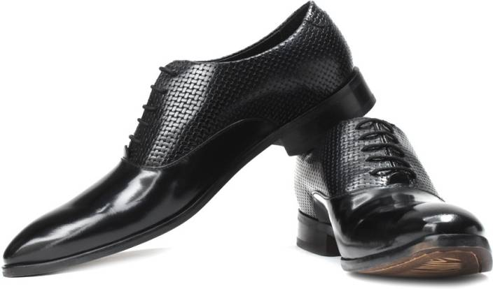 Ruosh Brush Off Finish Patent Leather Club Shoes For Men Buy Black