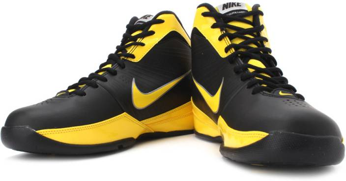 Nike Air Quick Handle Basketball Shoes For Men Black Yellow