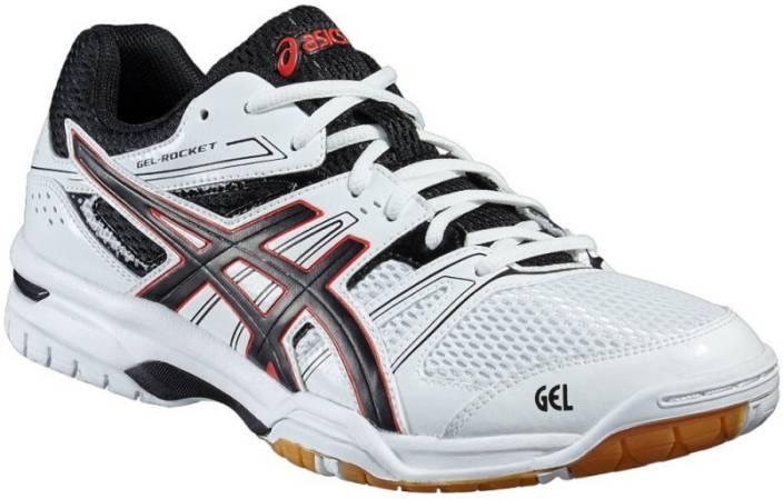 3628aa785c26 Asics Gel-Rocket 7 Badminton Shoes For Men - Buy White, Black ...
