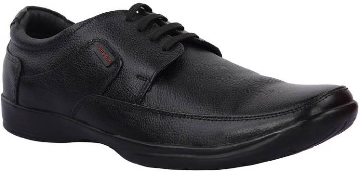 Red Chief Black Formal Shoes Lace Up For Men