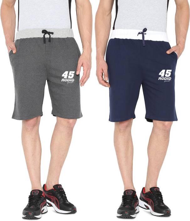Rodid Solid Men's Multicolor Basic Shorts