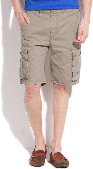 345575852405fc Levi's Solid Men's Beige Cargo Shorts - Buy KHAKI Levi's Solid Men's Beige  Cargo Shorts Online at Best Prices in India   Flipkart.com