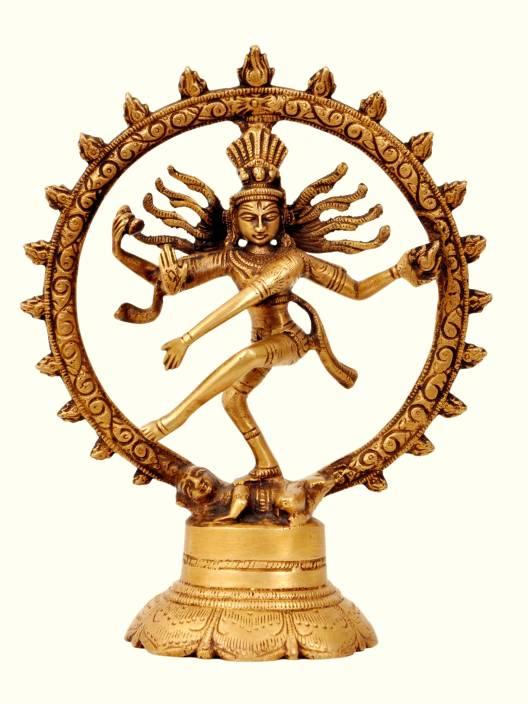 Aesthetic Decors Nataraj Dancing On Rd. Base Showpiece  -  19 cm