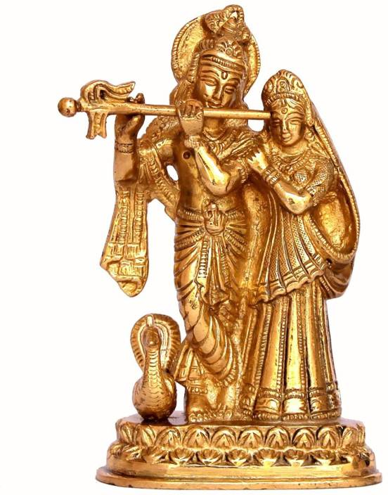 022f385bd Cosmo-Craftvilla Hindu God Brass Statue  Radha Krishna Statue Radha Krishna  Idol  Radha Krishna Murti with Peacock and Flute  Religious Gift Decorative  ...