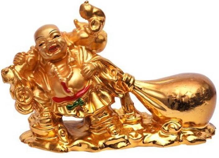 Shakti 100 Original Laughing Buddha With Money Bag For Wealth