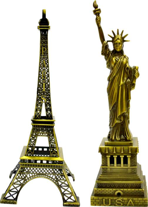 Jaycoknit L'Obra Clasico Eiffel Tower,Statue of Liberty Showpiece  -  15 cm
