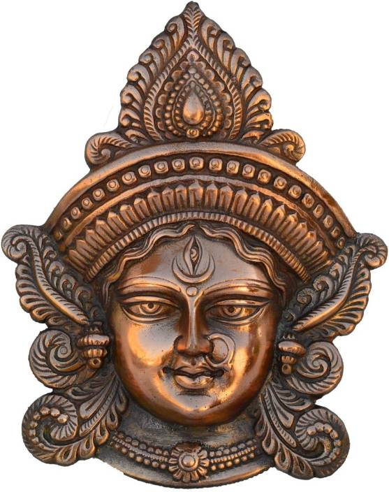 eCraftIndia Metal Goddess Durga Wall Hanging Decorative Showpiece  -  27.94 cm
