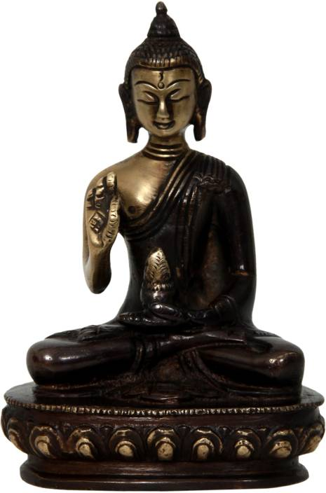 Aesthetic Decors Buddha Sitting W Hand Down Showpiece  -  11.5 cm