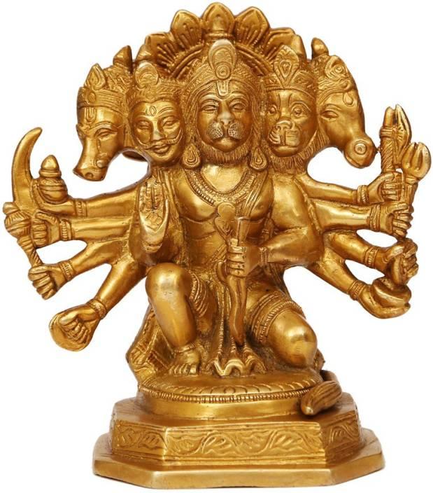 Craftartz Panchmukhi Hanuman Standing Idol Decorative