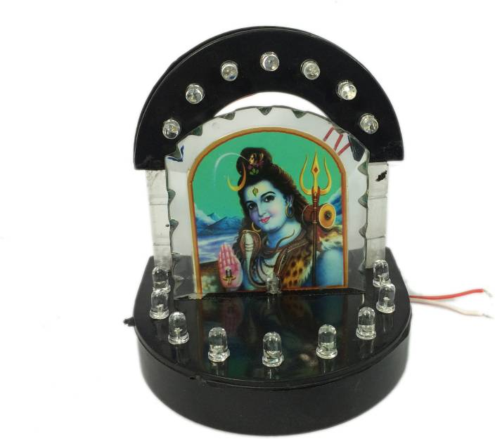 Cardressers Car Dashboard Idol Temple With 16 Led Decorative