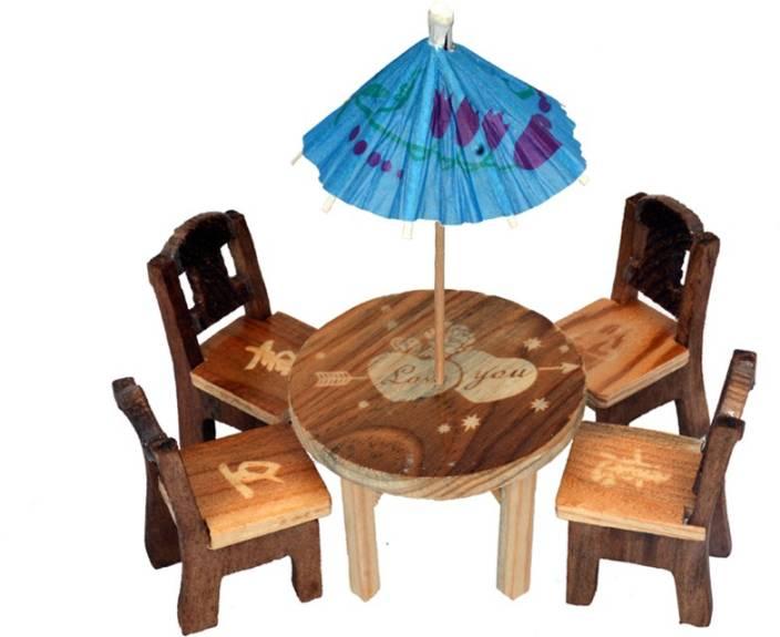 Craft Trade Wood Raja Set Decorative Showpiece - 8 cm