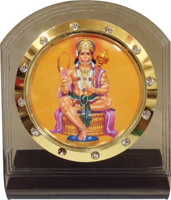 Bulb Centre Hindu God Idol Hanuman Temple Frame For Car Dashboard