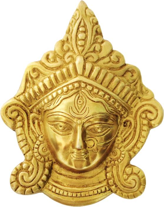 Aakrati Durga Ji Face - Wall Plate Showpiece  -  16 cm