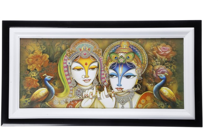 Smile2u Retailers Radha Krishna Wall Scenery Showpiece   28 Cm Part 96
