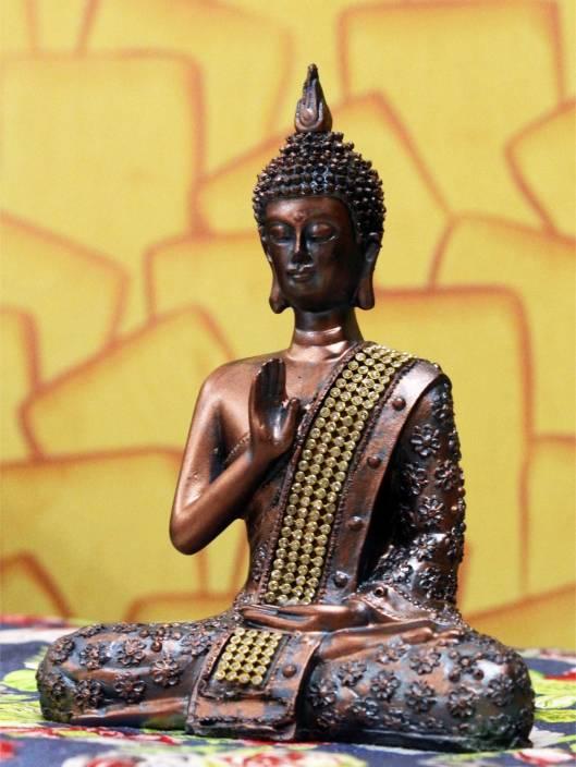 Craft Junction Antique Blessing Buddha Showpiece  -  20 cm