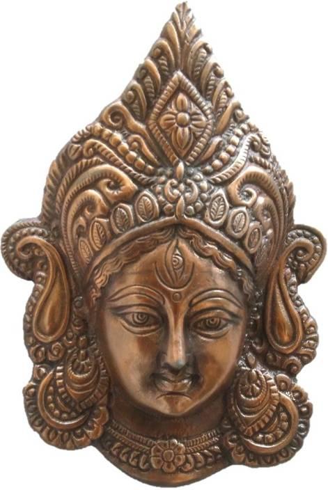 JaipurCrafts Matel Wall Hanging Of Goddess Durga Decorative Showpiece  -  25.4 cm