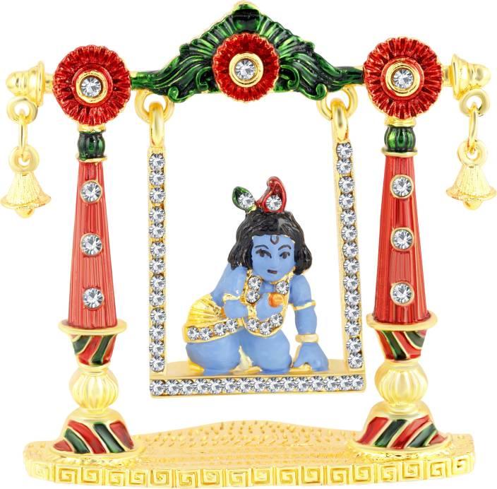 Kulin Lord Krishna Balgopal Idol On Jhula For Car Dashboard Home