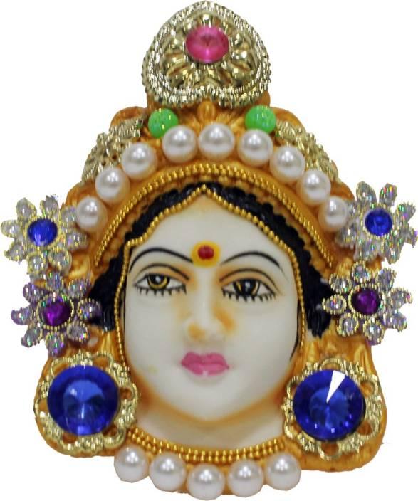 KAARTI Hand Painted and Stone Studded Maa Lakshmi Devi