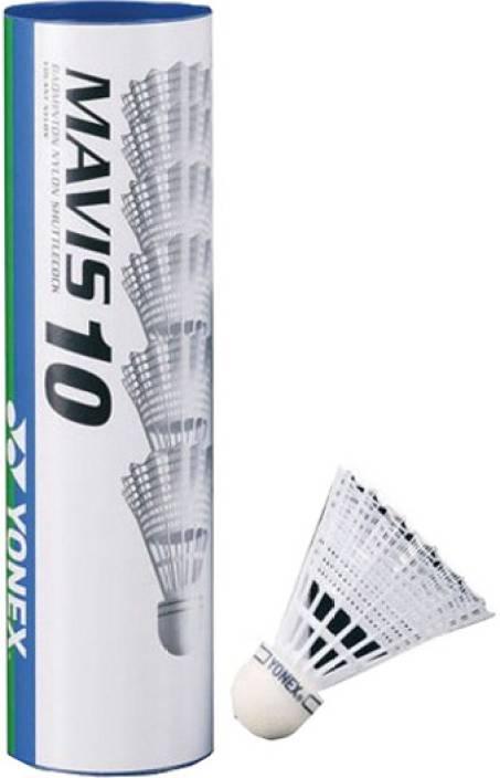 Yonex Mavis 10 Plastic Shuttle  - White
