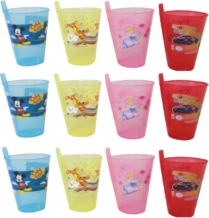 e6937852a10 CSM Combo Of 12 Kids Straw Glass Sipper Price in India - Buy CSM ...