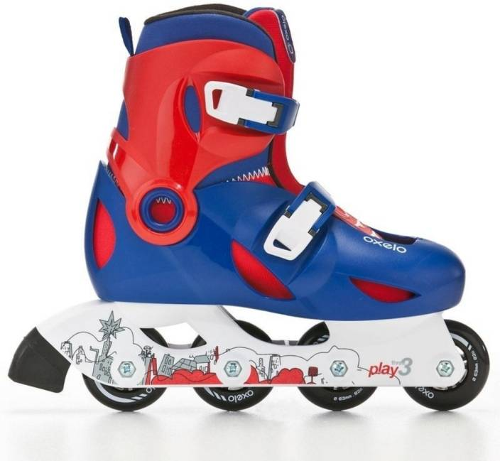 768af833103fe Oxelo by Decathlon Play 3 Boys In-line Skates - Size 13-1.5 UK - Buy ...