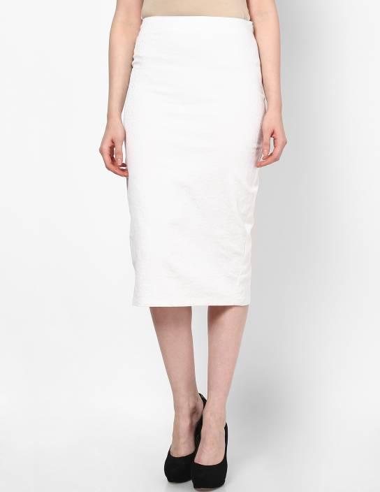 Femella Animal Print Women's Pencil White Skirt