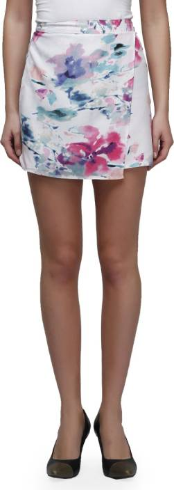 Cherymoya Printed Women's Pencil White Skirt