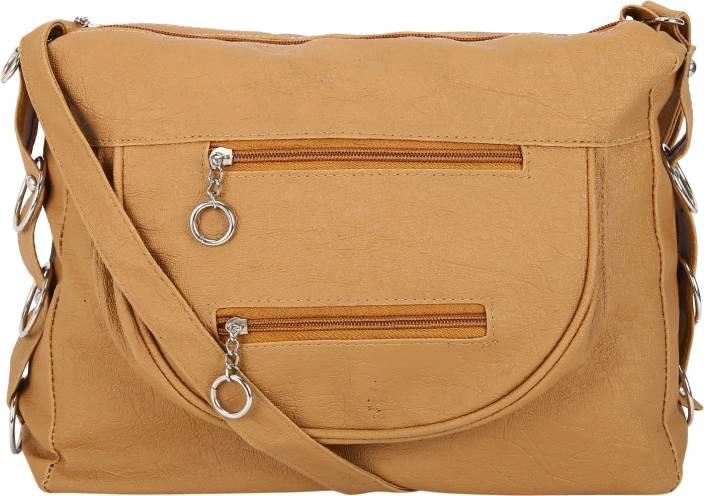 Mukul Collection Women Casual Brown PU Sling Bag