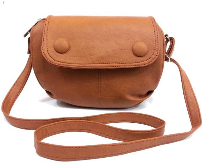 Leather Land Women Brown Leatherette Sling Bag Brown-9 - Price in ...