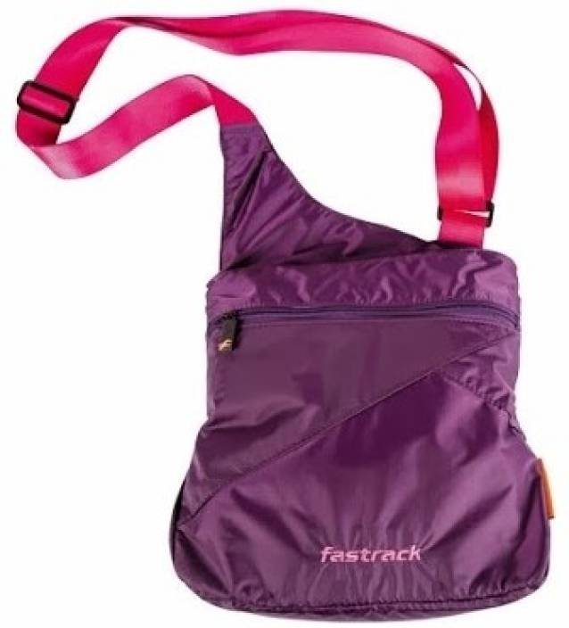 Fastrack Women Purple Nylon Sling Bag Purple - Price in India ...