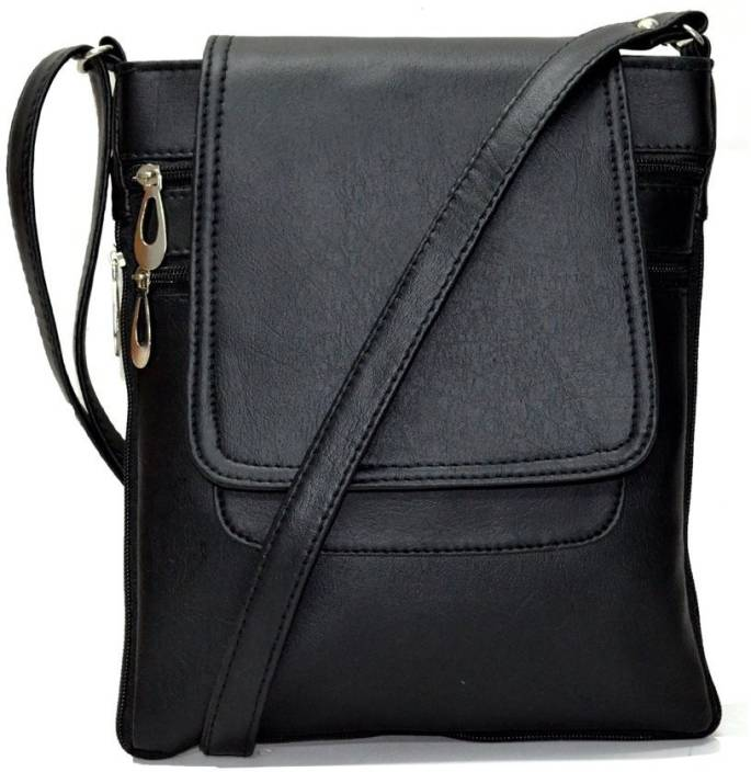 Barsha Women Casual Black Leatherette Sling Bag